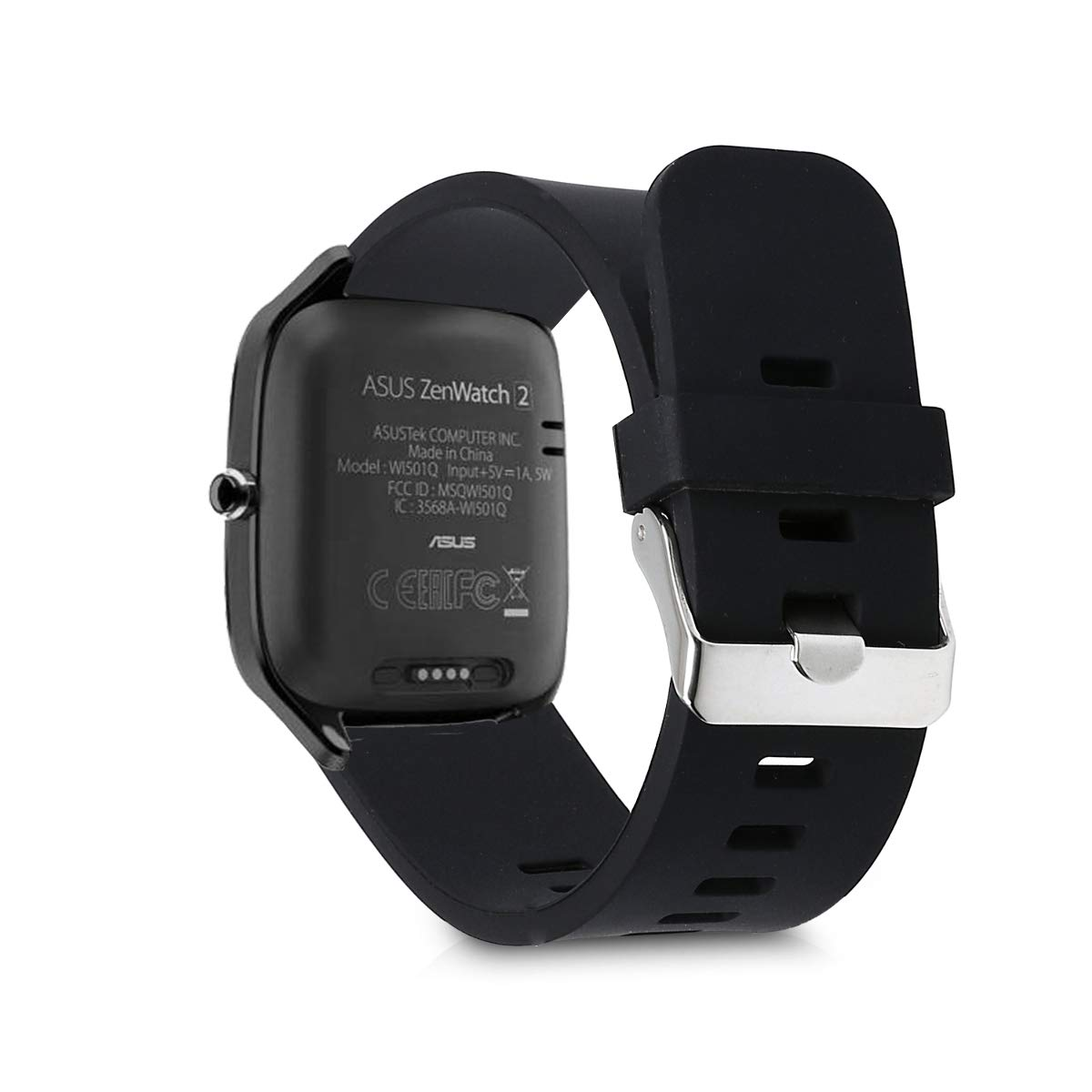 kwmobile 2X Pulsera para Moto 360 2 / ASUS Zenwatch 2 - Brazalete de Silicona Rojo/Negro sin Fitness Tracker