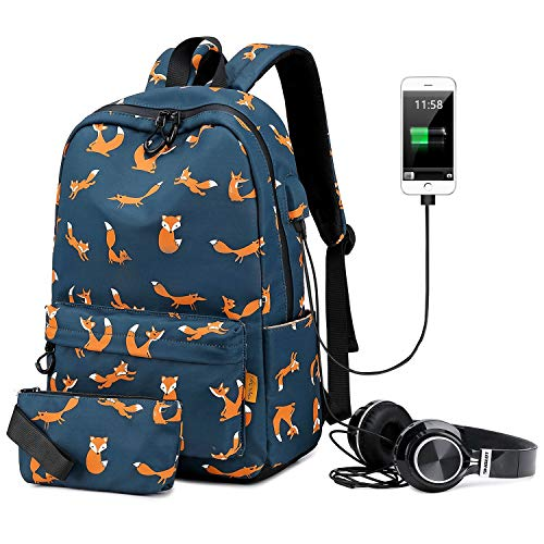 - PANTIPINKY Travel Laptop Backpack with USB Charging Port & Headphone Interface Large Capacity School Backpack for College Student, Women, Teen Girls, Fits 15.6 inch Laptop/Notebook/Tablet