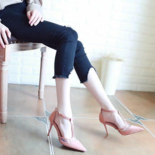 Xue Qiqi Pumps Fein mit High Heels Wilde Mädchen Licht Schuhe Geschlitzten Lasche Tipp Licht Mädchen - Schuhe Net Garn Einzelne Schuhe Frauen 773b1e