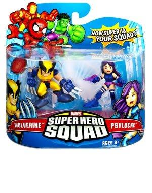 Marvel Superhero Squad Hasbro Series 7 Mini 3 Inch Figure 2-Pack Wolverine & Psylocke