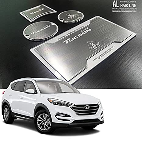 Amazon.es: Hairline - Soporte para dos vasos de aluminio para Hyundai Tucson 2016 2017 2018