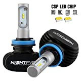 NIGHTEYE H11/H8/H9 Led Headlight Bulbs 50W 8000LM 6500K All-in-one Conversion Kit w/ CSP Chips Bulb Replace Auto Truck SUV Halogen HID Lights High Low Beam Fog Light Plug and Play for Cars Jeep off Road Trucks ATV SUV (pack of 2)