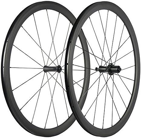 Wilee - Ruedas para Bicicleta de Carretera (Carbono, 38 mm, 23 mm ...