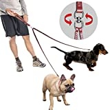 PET ARTIST 2 Way Tangle Free Dog Leash for Small&Medium Dogs Walking and Training