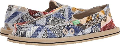 Sanuk Women's Donna Geo Patch Loafer Flat, Blue/Multi, 07 M ()