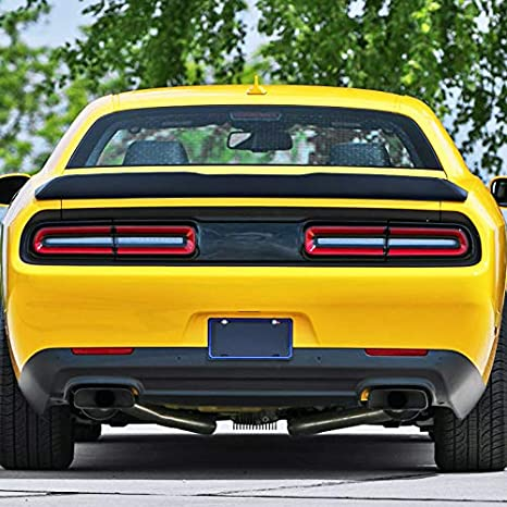 Spec-D Tuning For Dodge Challenger SRT Hellcat Style ABS Rear Primer Black Trunk Spoiler