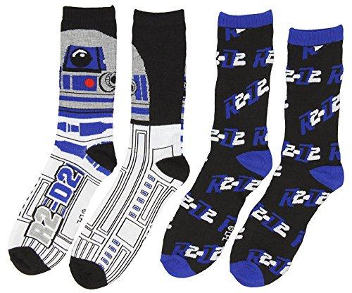 Star Wars R2 D2 Droid Mens 2 Pack Casual Crew Socks