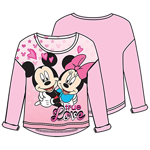 Disney Mickey Minnie Love,youth Girls Sweater Hilo, Pink (X-Small) by Disney