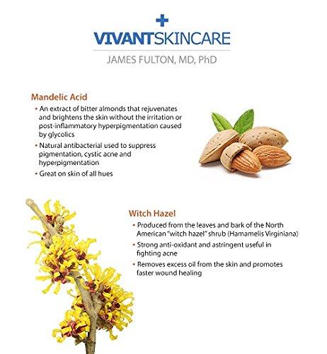 Vivant Skin Care 9% Mandelic Acid 3-in-1 Toner, 4 Ounce