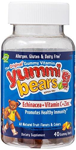 Echinacea Bears Vitamins Yummi (Yummi Bear Echinacea, Vitamin C & Zinc, 40 Chews)