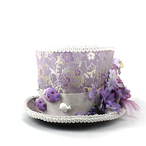 ZHANGBBB Kentucky Derby Mini Top Hat, Purple and