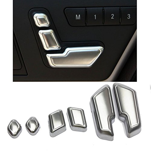 MATCC Chrome Door Seat Adjust Buttons Switch For Mercedes-Benz E