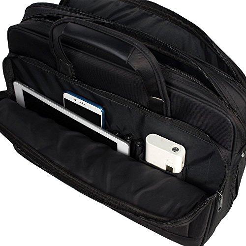 KOPACK Expandable Laptop Briefcase 17 17.3 Inch Large Business Water Resistant Shoulder Computer Bags Black by kopack (Image #7)