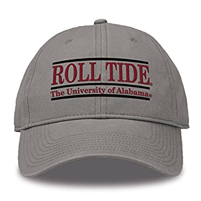 The Game NCAA Alabama Crimson Tide Bar Design Classic Relaxed Twill Hat, Grey, Adjustable from MV CORP. INC