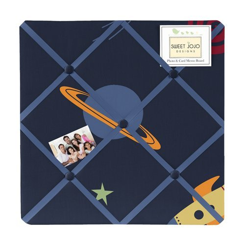 Sweet Jojo Designs Navy Fabric Memory/Memo Photo Bulletin Board for Space Galaxy Collection