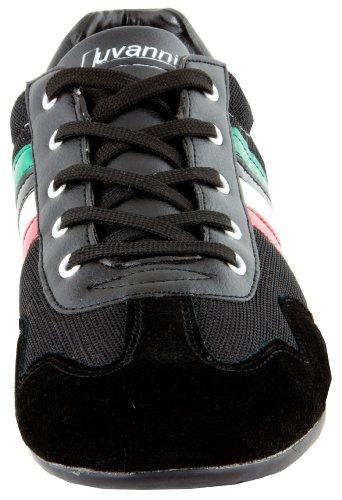 LUVANNI Sneaker baskets mode, chaussures de sport des hommes de cuir veritable, Couleur Noir, taille EU 41