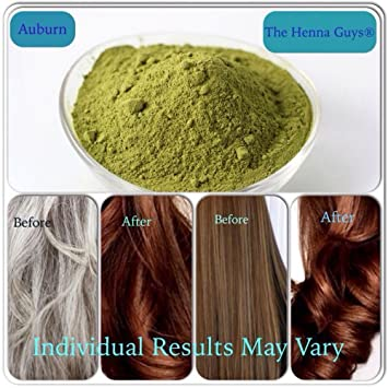 Auburn - Henna hair & Beard Dye 100 grams - The Henna Guys ...