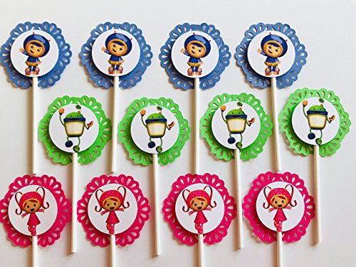 (12 TEAM UMIZOOMI Cupcake Toppers - Party Picks - Nickelodeon - Milly - Geo -)