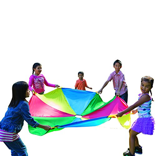 Pacific Play Tents Kids 45 Foot Enormous Parachute with Handles and Carry Bag by Pacific Play Tents