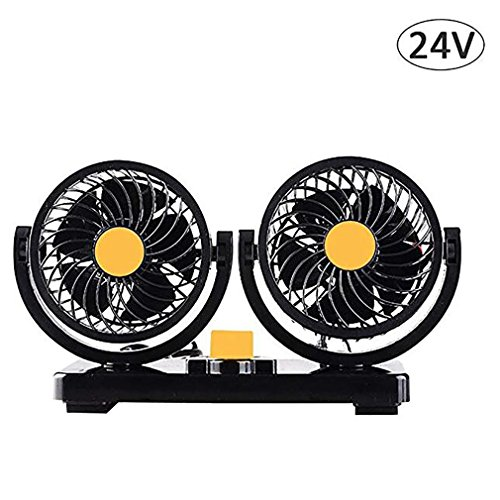 24V Car Vehicle Panel Oscillating Portable Adjustable Fan Clip-On Car Styling Interior Accessories ()