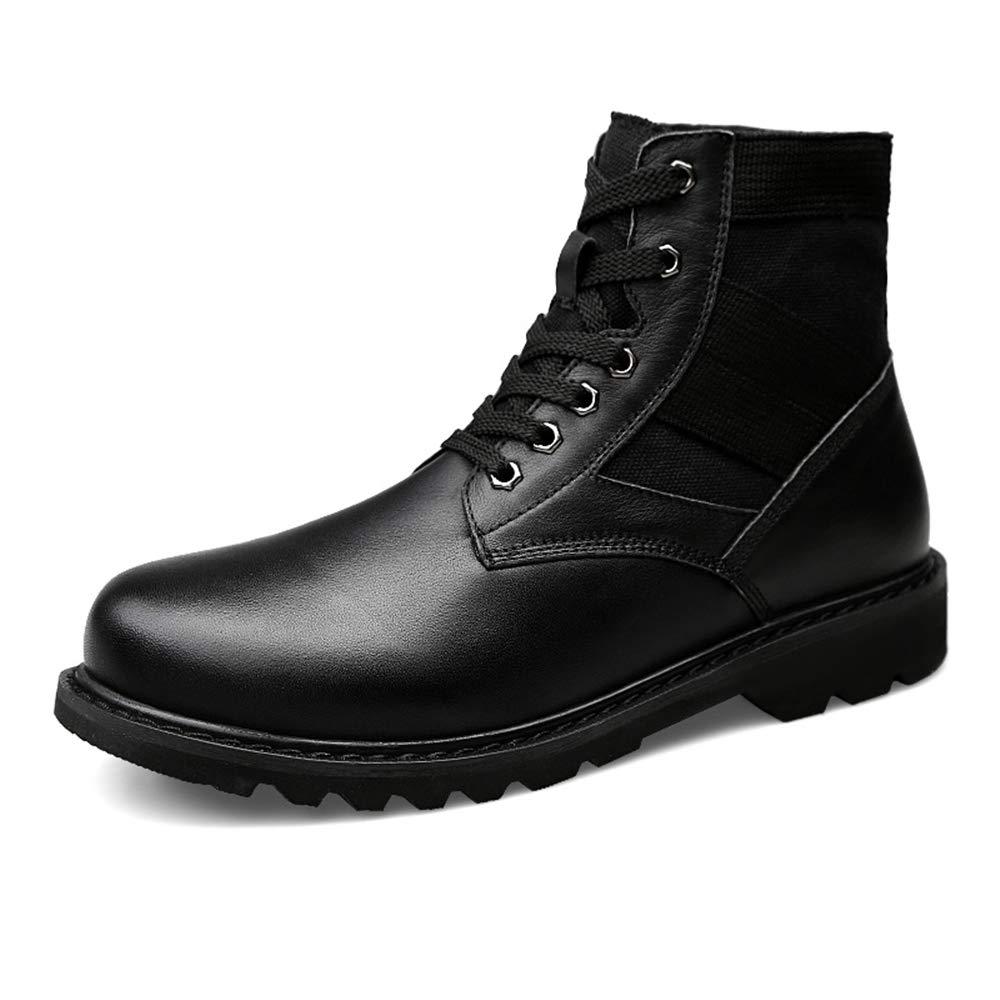 Apragaz Klassische Stiefeletten für für für Herren, Schnürsenkel-Laufsohle, hohe Spitzen-Chukka-Stiefel (Warmer Samt optional) (Farbe   Schwarz, Größe   47 EU) d0a2bd
