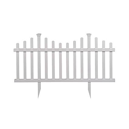 Charmant Madison No Dig Vinyl Garden Picket Fence Kit (2 Pack)