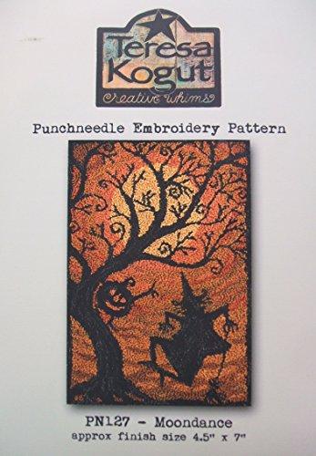 Moondance Witch Punchneedle Punch Needle Embroidery Teresa Kogut Pattern PN127 Autumn Fall (Punchneedle Cloth)