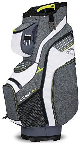 Callaway Golf 2018 Org 14 Cart Bag, Titanium/ White/ Neon Yellow
