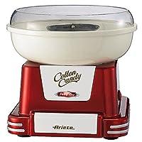 Ariete 2971/1 Cotton Candy - Macchina per lo zucchero filato, Adatto per zucchero semolato e caramelle dure, 450W, Coni in dotazione, Rosso
