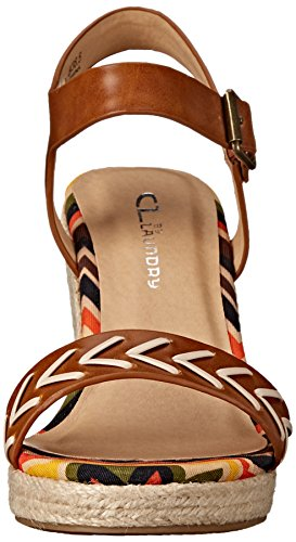 CL by Chinese Laundry Womens Pareo Wedge Sandal Cognac Burnished 8Y91dWtHLP