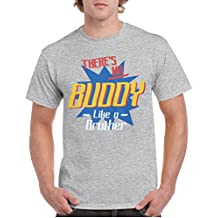 T-COPER There's No Buddy Like A Brother Men's T-Shirts Creative Cotton T Shirts Short Sleeve Hot Round Neck Tops Tee