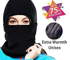X-CHENG Balaclava Ski Mask - Cold Weather Face Mask Motorcycle Neck Warmer or Tactical Balaclava Hood - Plus velvet - Ultimate Thermal Retention in the Outdoors Super - Anti-sensitive(black)