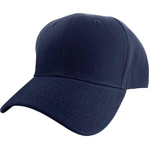 Plain Curved Fitted Sized Baseball Cap (Plain Hat Baseball Fitted)