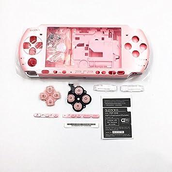 Carcasa completa para Sony PSP 3000 3001 3002 3003 3004, con tornillos y botones rosa