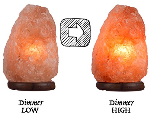 Ambient Salt Lamp Authentic Himalayan Lamp 7-9'' 7-9 lbs Hand Crafted Natural Crystal Salt Rock with UL Listed and Certified Dimmer Switch by Ambient Salt Lamp (Image #5)
