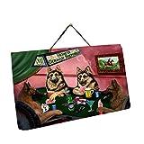 Home of German Shepherd 4 Dogs Playing Poker Photo Slate Hanging