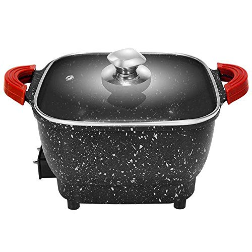 DCIGNA 2.5L Electric Hot Pot With Lid, Non-stick Mini Hot Pot, 8 INCH Multifunction Electric Cooker - Adjustable Temperature Control, Non-stick Coating & Cool Touch Handle - Suitable For Boiling, Frying, Stewing, Steaming, Searing - 750W 110V