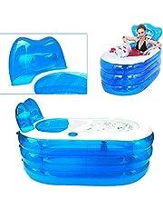 OUKANING Opblaasbare badkuip voor volwassenen, PVC, opvouwbare plastic badkuip 121 x 85 x 70 cm