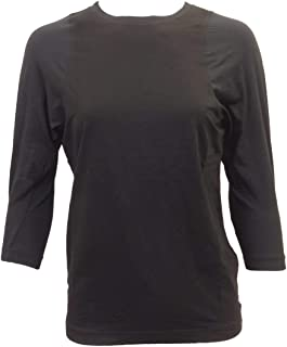 product image for Hard Tail Forever Three-Quarter Sleeve Double Bound Crew Neck Tee Style SILK-08