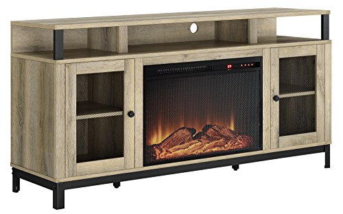 Ameriwood Home 1838878COM Marxen Fireplace TV Stand, Natural