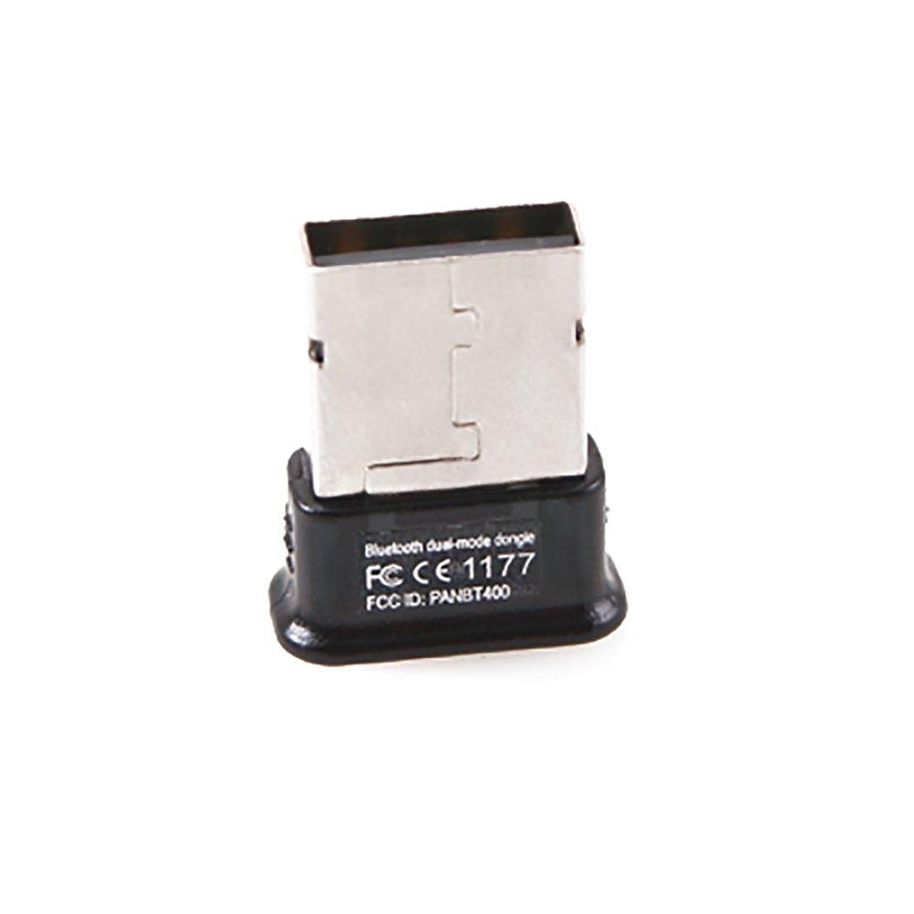 GMYLE Bluetooth Adapter Dongle, Ultra-Mini USB Broadcom BCM20702 Class 2 Bluetooth V4.0 Dual Mode Dongle Wireless Adapter with LED