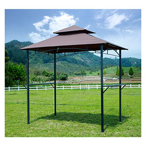 Gojooasis Barbecue Grill Gazebo Outdoor 2 Tier Bbq Canopy Tent Coffee Shelter 8 Feet
