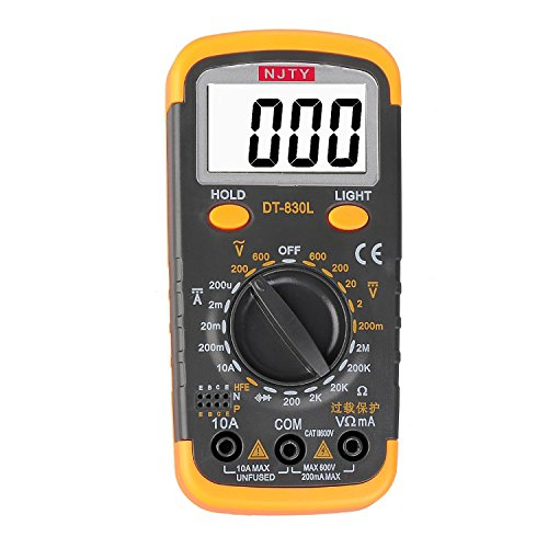 ELIKE DT6013 Capacitance Meter/Capacitor Tester 0.1pF to 20mF with Data Hold and Back Light Function/English Manual