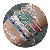 ZHEPIN 3PCS Braided Rope Bracelet Set Handmade Waterproof Wrap Bracelet Charm Woman Kids