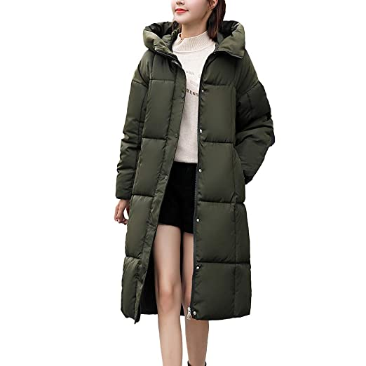 01c319f12 MODOQO Women's Long Down Coat Winter Warm Thick Outerwear Parkas Coat Hooded