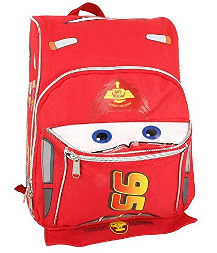 """Ruz, Pixar Cars Lightning McQueen Shape Toddler Small 12"""" inches Backpack"""