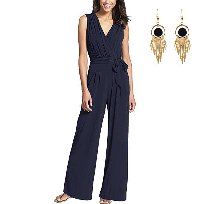 64809f418311 Lylafairy Tuta Donna Elegante da Cocktail Estiva Jumpsuit Rompers con  Cintura Vita Alta  Amazon.it  Abbigliamento