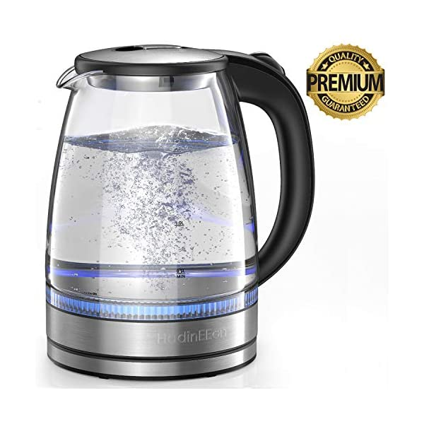 HadinEEon Electric Kettle 1.7L Glass Electric Tea Kettle