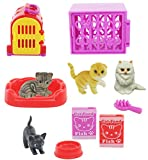Kids Pet Shop Toy Set w/ 4 Cat figures and Tons of Cool Accessories! Great Playtime Toy for Kids, Children