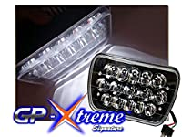 GP XTREME Pair of 7 x 6 H6054 Black Silver Chrome Rectangle Conversion LED CREE High / Low Seal Beam Headlight Lamps (1 Pair) for Truck Car Jeep Van - LED9-124-BK